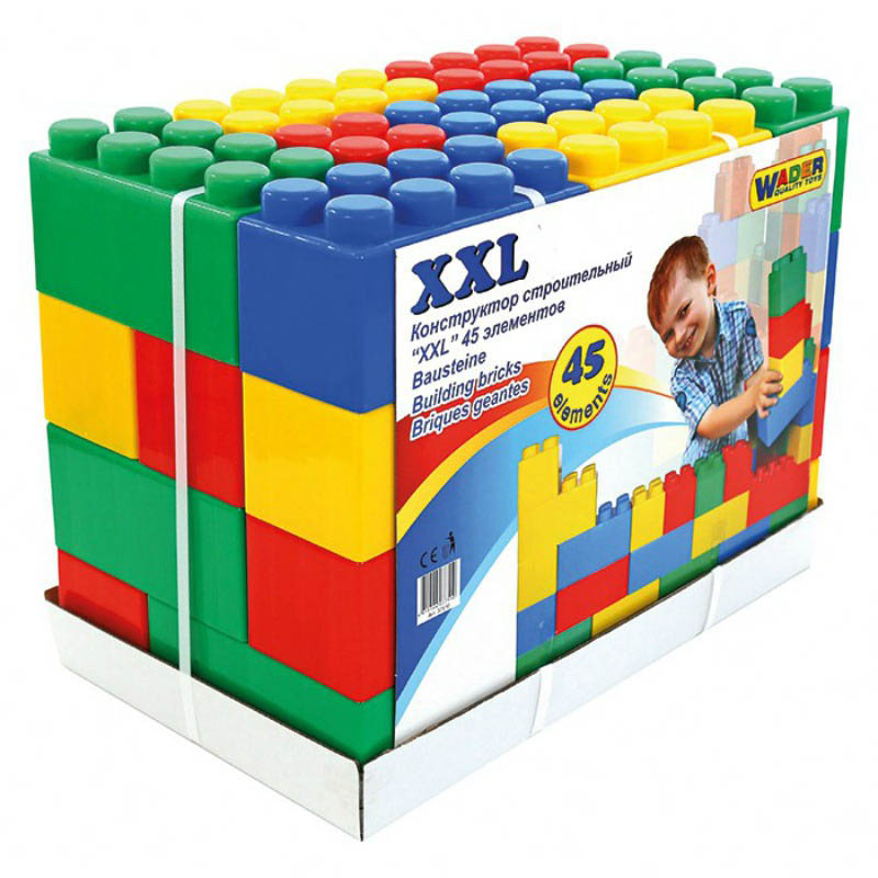 Wader Building Bricks XXL - 45 pieces