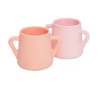 Wean Meister Sippy Skillz  Cups - 2 pack- Peach&Baby Pink