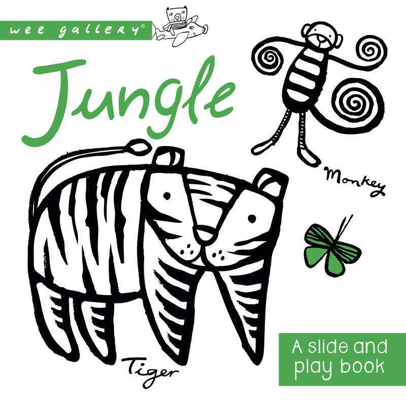 Wee Gallery Jungle Slide and Play Board Book