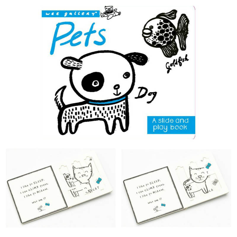 Wee Gallery Pets Slide and Play Board Book