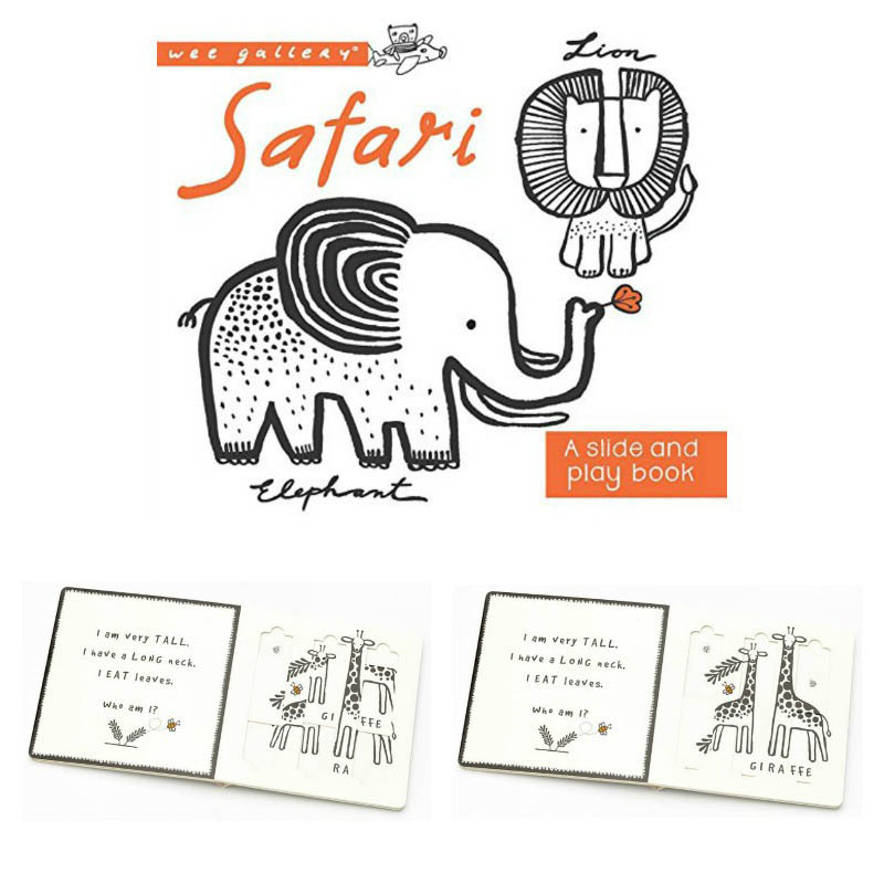 Wee Gallery Safari Slide and Play Board Book