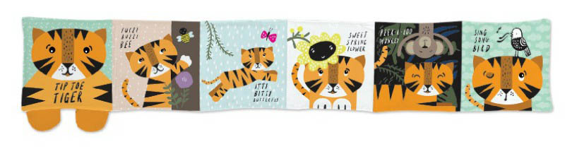 Wee Gallery Cloth Books-Tiptoe Tiger