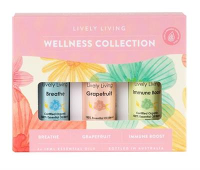 Wellness Collection Essential Oils Organic Trio