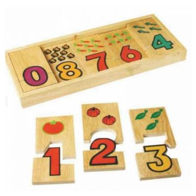 Wooden Number Puzzle 0-9