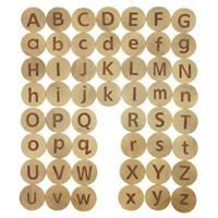 Wooden Round Uppercase Letter Discs (lowercase in image is unavailable)