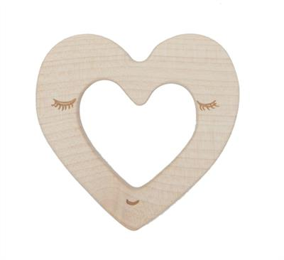 Wooden Story Heart Maple Wood Teether