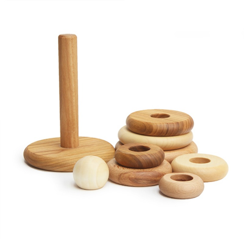 Wooden Story Natural Round Stacker