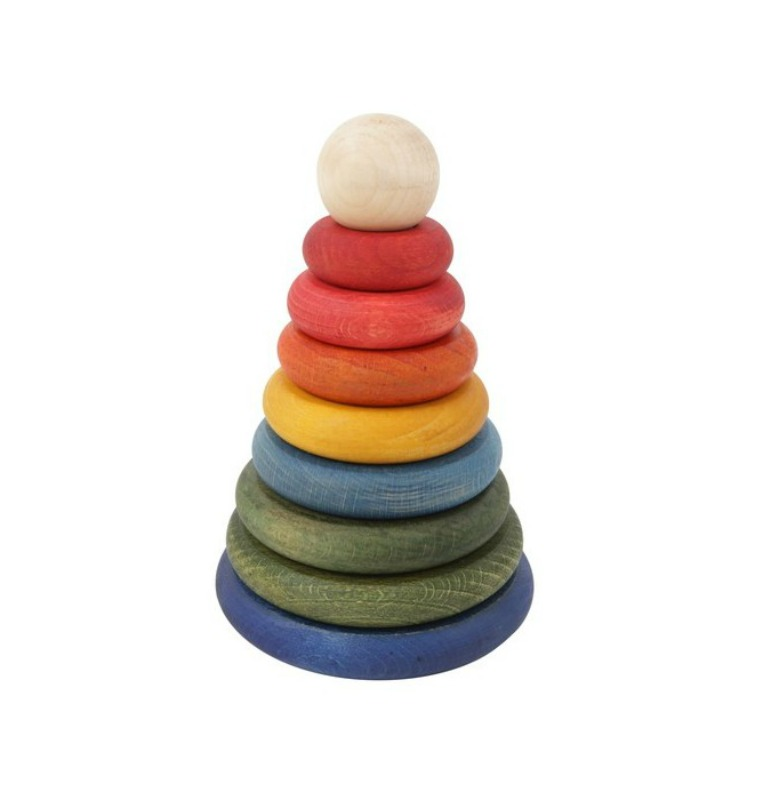 Wooden Story Round Rainbow Stacker