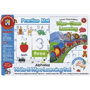 Write and Wipe Learning Set Alphabet Skills
