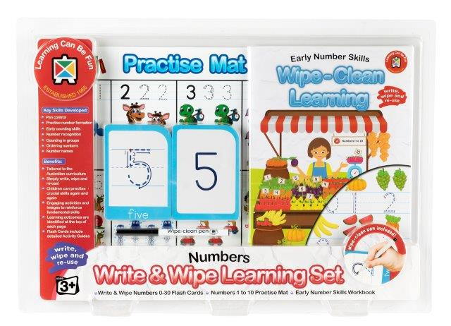 Write and Wipe Learning Set Early Numbers