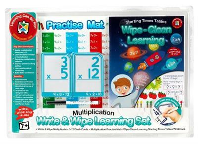 Write and Wipe Learning Set Multiplication Skills
