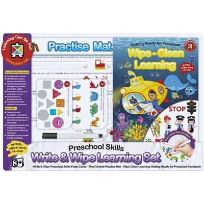Write and Wipe Learning Set Preschool Skills