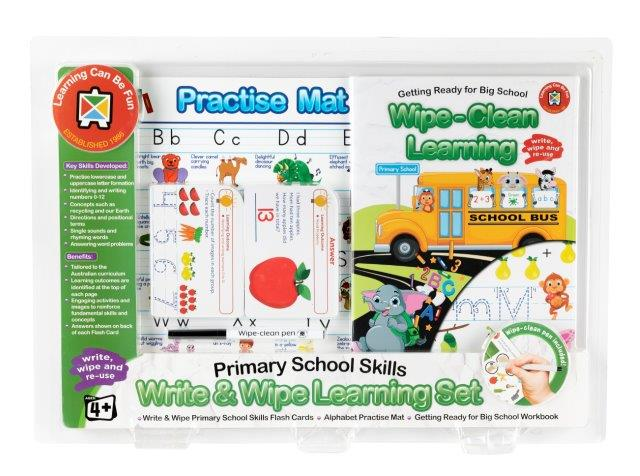 Write and Wipe Learning Set Primary School Skills