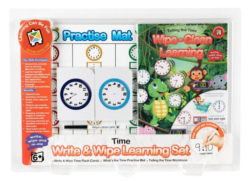 Write and Wipe Learning Set Time Skills