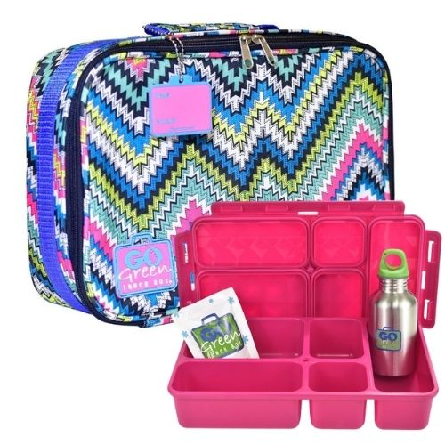 Zig Zag Go Green Lunch Box Set