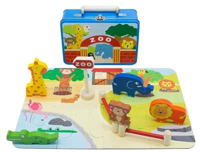 Zoo Playset in Tin
